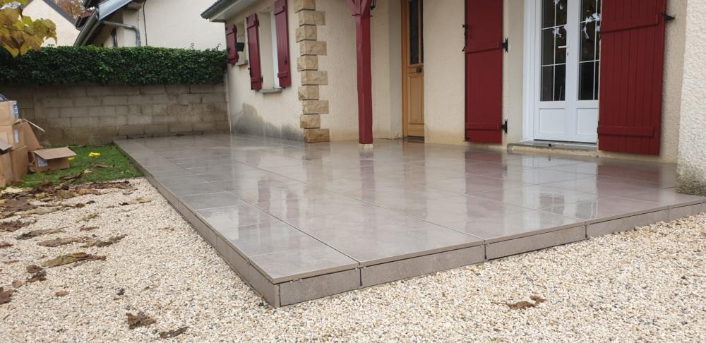 Terrasse extérieure - Dalles sur plots - 21310 ARCEAU