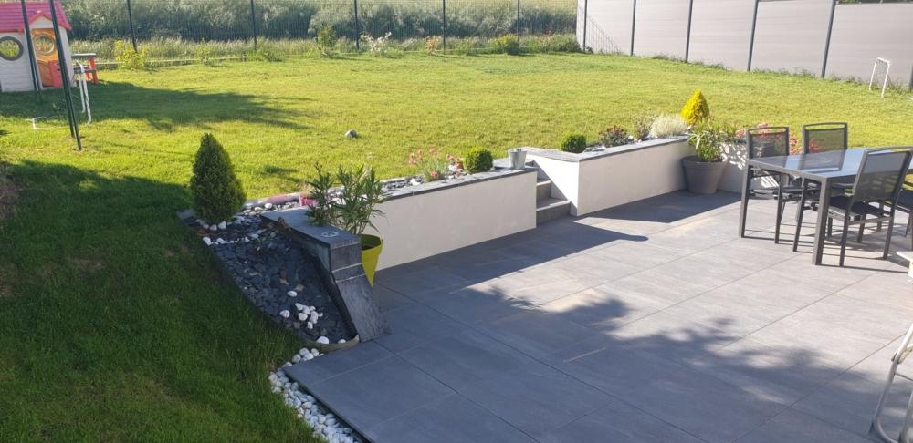 Terrasse extérieure - Dalles sur plots - 21120 SPOY